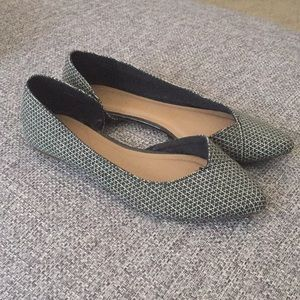 Gap D'orsay Pointed Toe Ballet Flats